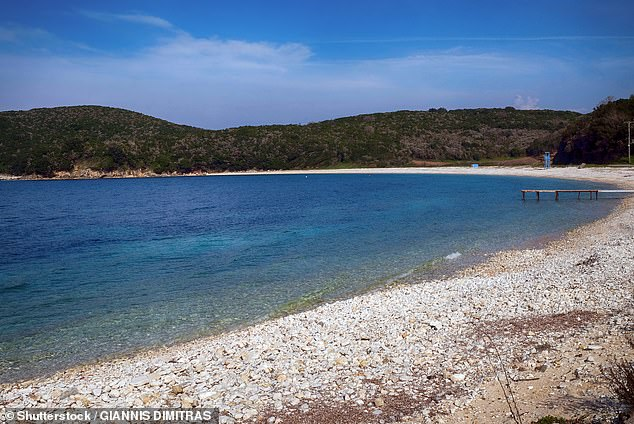 A British woman was killed after being struck by a boat propeller off Avlaki beach yesterday (file photo) off the Greek island of Corfu.