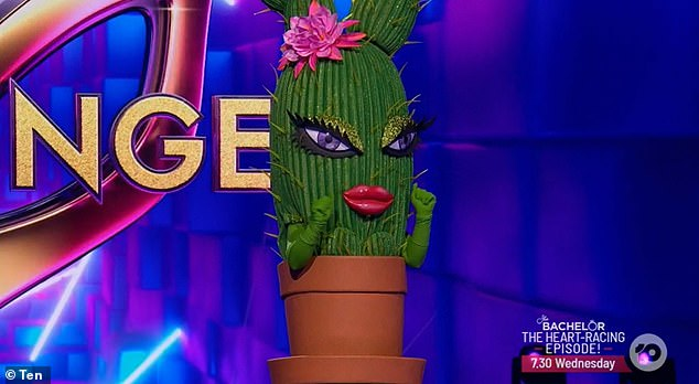 Who is it! On Monday night's episode of The Masked Singer Australia the celebrity inside the Cactus costume was revealed