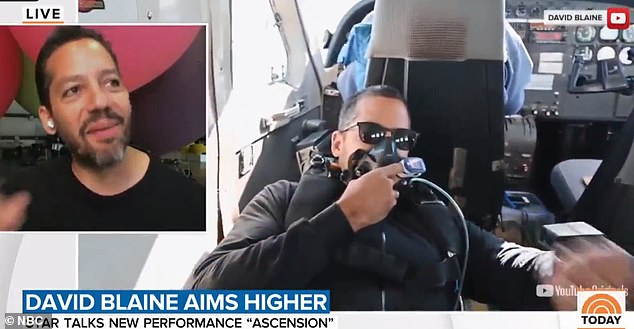 He said for the project he's supposed to do 500 practice jumps out of a plane and so far he's completed more than 400