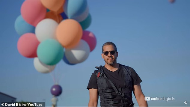 In his new complex project 'Ascension' he will fly into the sky holding onto a cluster of balloons and ride them as high as possible, put on a parachute, and jump down to safety