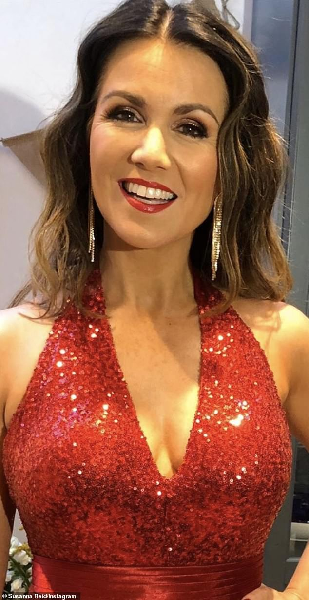 Glamor: For her co-hosting duties with GMB, Susanna keeps her makeup simple, but for red carpet events, she elevates the glamor with heavier makeup looks