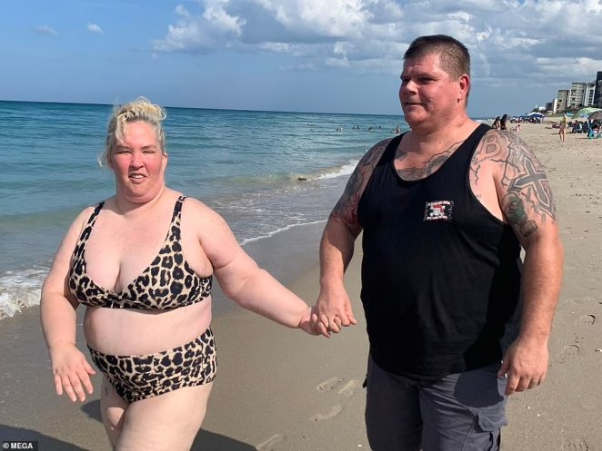 On her We TV series Mama June: Family Crisis, Mama June said that her battle with drug addiction led her to liquidate their finances. Pictured: The couple on the 4th of July
