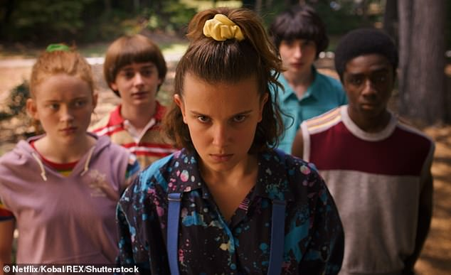 Netflix is offering just the first episodes of series like Stranger Things, Elite, When They See Us, Love Is Blind, Our Planet, Boss Baby, and Grace and Frankie. The above image shows an episode from the third season of Stranger Things