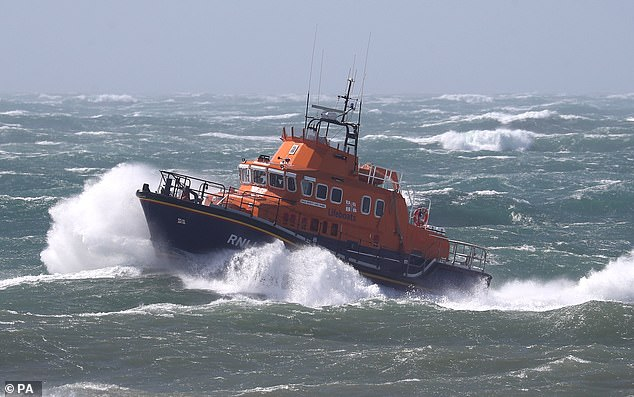 The RNLI Severn class lifeboat in the English Channel earlier this month (file photo)