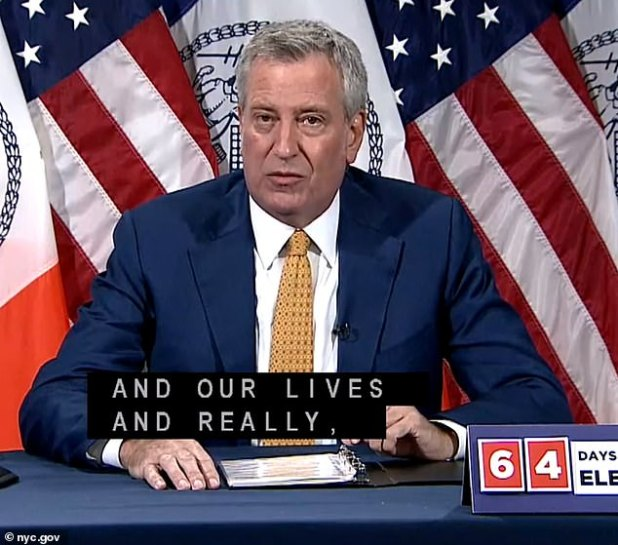 Mayor Bill de Blasio indicated on Monday that indoor dining could still be months away, despite NYC recording a 0.59 percent COVID-19 infection rate - one of the lowest rates since March