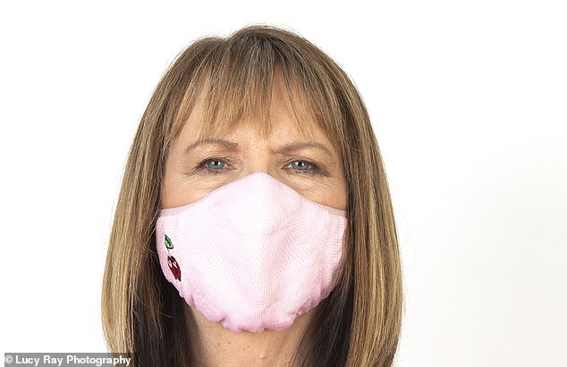 Face coverings may be compulsory in more places now than ever ¿ but how much protection do they really afford to people around you? Professor Val Edwards-Jones is pictured above testing a mask