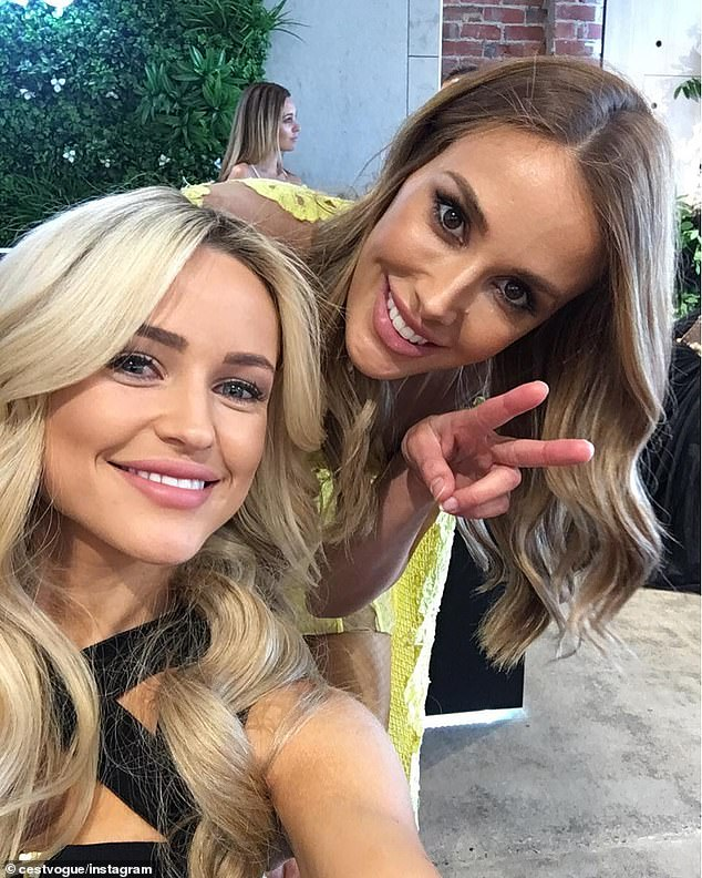 'That's a cannot': Rebecca Judd, 37, has revealedher fellow WAG Jessie Murphy (née Habermann) is trying to make her catchphrase 'that's a cannot' popular. Pictured: Jessie and Rebecca