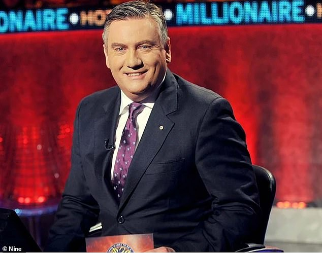 Back in action: Nine's Millionaire Hot Seat is heading to Queensland to film new episodes after production in Melbourne was halted following a coronavirus outbreak on a nearby set. Pictured: host Eddie McGuire