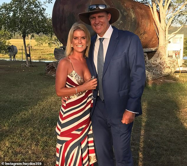 The 48-year-old (pictured with wife Kellie) has been appointed to the Board of the Australia-India Council, which aims to improve relations and trade between the two nations