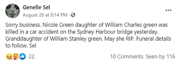 In the wake of the tragedy friends and family paid tribute to Ms Green who had faced a tough few years personally with a number of run-ins with the law and was due to face a trial later in 2020 for charges of stealing a $3,000 handbag