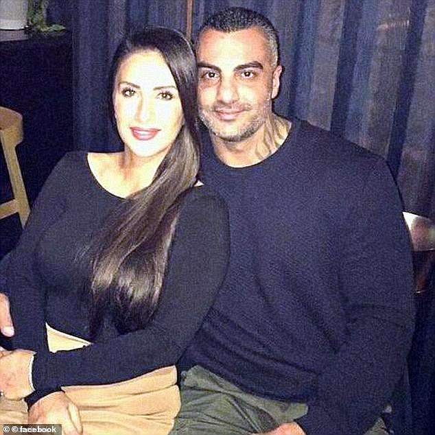 Mahmoud 'Mick' Hawi, (picturd with wife Carolina Gomez) who became Comancheros national president aged just 22 before relinquishing the role in 2009, was shot dead in his black Mercedes parked outside a Fitness First gym in Rockdale on February 15, 2018