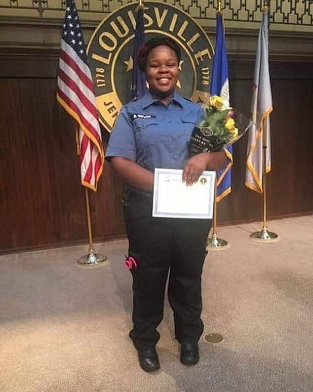 Breonna Taylor, 26, was shot eight times while sleeping in her bed with her boyfriend Kenneth Walker when three plain clothes officers performed a no-knock arrest warrant at her Louisville apartment on March 13