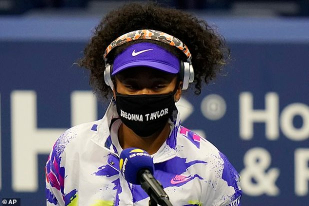 Naomi Osaka is wearing a face mask named Bryo Taylor, shot by police in Louisville in March