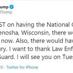 Trump tours violence-ravaged Kenosha and calls rioters 'domestic terrorists'