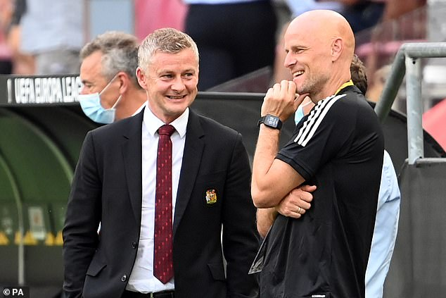 The Dutchman becomes Ole Gunnar Solskjaer's (left) first signing of the summer window