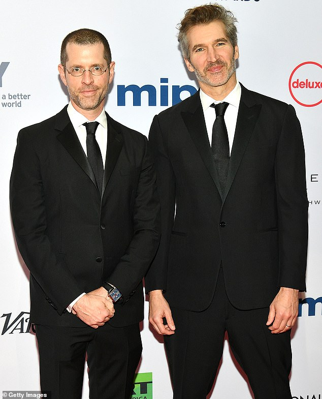 Back in action: Game Of Thrones co-creators David Benioff and D.B. Weiss are adapting the Chinese sci-fi sage The Three-Body Problem for Netflix. They're seen in Novemeber 2019 above