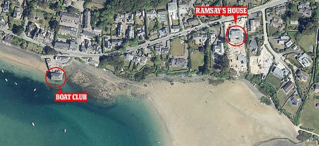 The incident took in the water off the sailing club on Rock beach which is close to where the TV chef owns a home