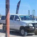 Alex Blake 'speeds across South Australia border from Queensland in stolen Toyota HiLux ute'