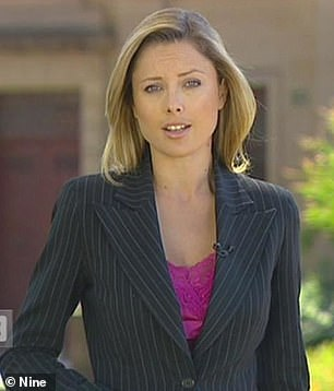 Youthful: While the presenter has swapped out her shorter darker blonde tresses with lusciously lighter locks, she has always sported a youthful glow. Pictured right during her early days at Channel Nine