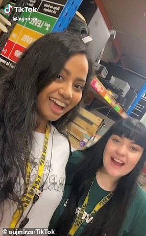 A JB Hi-Fi employee (left) has revealed the secrets to shopping at the store