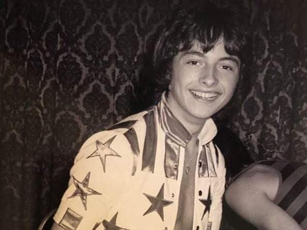 The Bay City Rollers posted this nostalgic photo of Ian on the group's Facebook page today