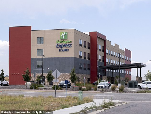 Barry stayed at this Holiday Inn hotel room on May 9, before leaving to return to his hometown of Maysville the following day. His co-worker, Jeff Puckett, then checked in and says he found the room scattered with wet towels and stinking of chlorine