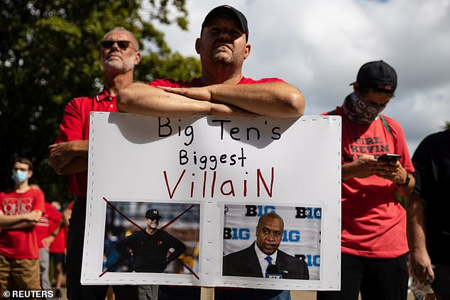 One Ohio State fan believes Big Ten commissioner Kevin Warren is a bigger villain than Michigan coach Jim Harbaugh. Warren postponed the season until spring back in August