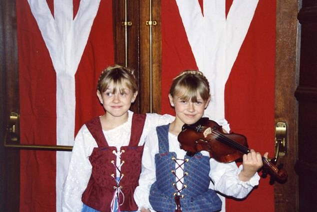 By the time the twins were 13, in 2006, Prussian Blue (pictured) had recorded a roster of hateful songs, with titles including Aryan Man Awake