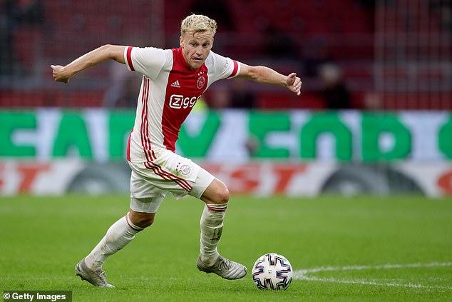 Van de Beek scored 41 goals in 175 appearances for Ajax after coming through their academy