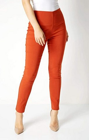 The Roman Originals Women Stretch Pull On Trousers in Rust