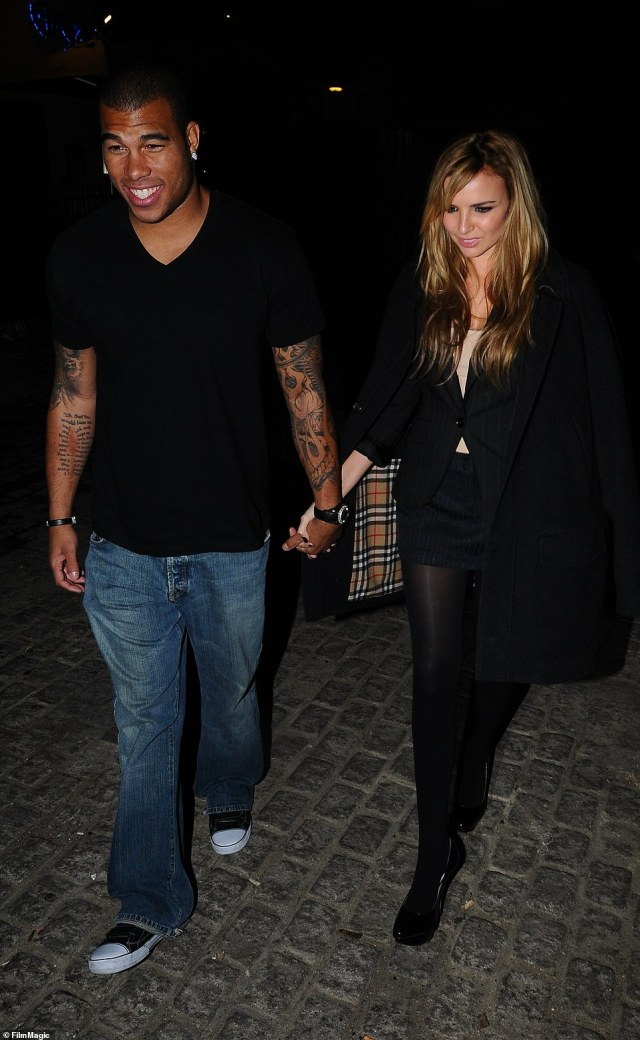 Ex:Jason met Nadine - who proved popular on last year's I'm A Celebrity... Get Me Out Of Here! - in 2008 and they were engaged between 2010 and 2011 [pictured in 2008]