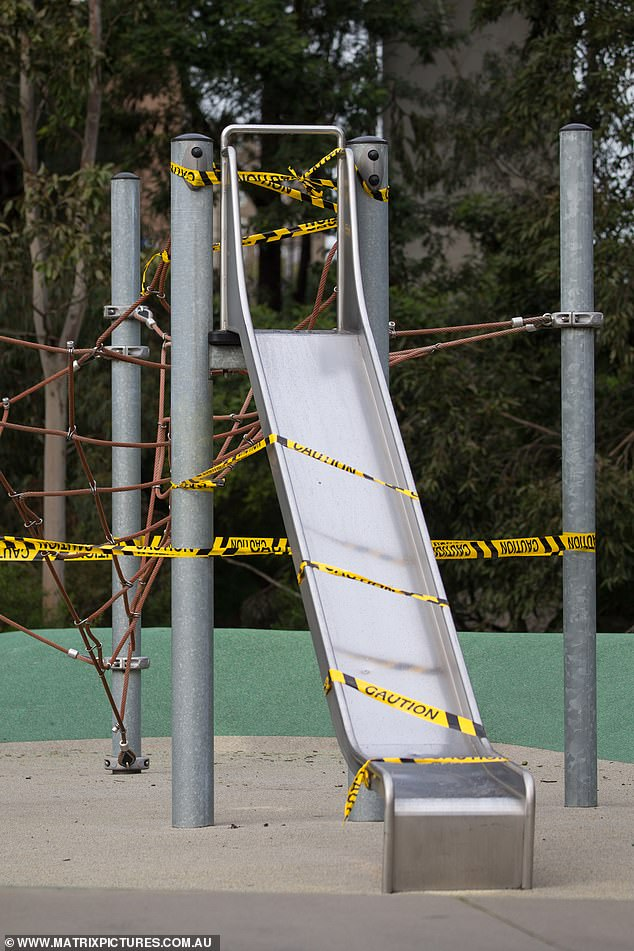 Melbourne children forget what it is like to enjoy a playground slide after Victorian Premier Daniel Andrews deemed them a risk to the elderly