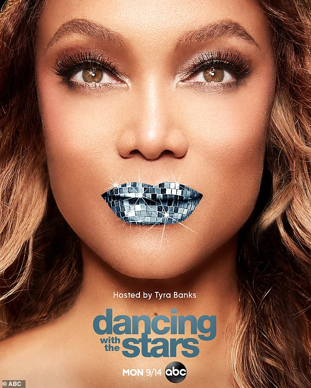 Wow:It was announced that supermodel/TV personality Tyra Banks was the new host, as well as becoming an executive producer for DWTS. The official poster for DWTS featuring Tyra was released on Wednesday as well, with the host rocking sparkling blue lipstick like the Mirror Ball trophy