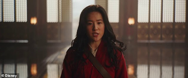 Angry fans: Yifei Liu, the film's star, was criticized in August for reposting a pro–Hong Kong police comment in August 2019; still from Mulan (2020)