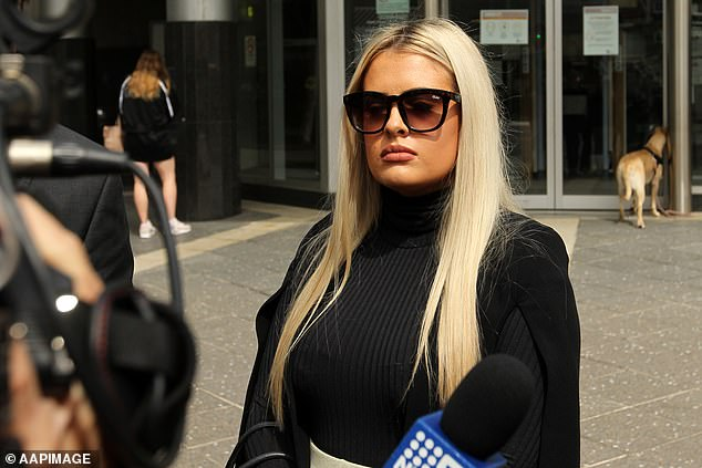 McKenzie Lorraine Robinson, 18, appeared in Brisbane Magistrates Court (pictured) on Thursday facing a single charge of distributing a prohibited visual recording