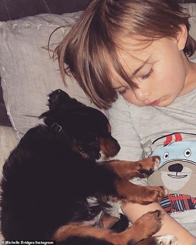 Bonding: Axel appears to have formed a close bond with his new puppy