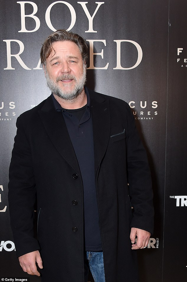 Witness: The Kanye and Sam saga began back in July, when Russell Crowe (pictured) shared a surprising story about an encounter between the two men. The actor claimed the rapper had become annoyed with Sam's drunken behaviour during a chance encounter in London in 2015