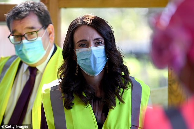 After New Zealand's second outbreak of COVID-19, Ms Ardern (pictured) told voters her government would be focusing on the pandemic rather than a 'large-scale range of policies'