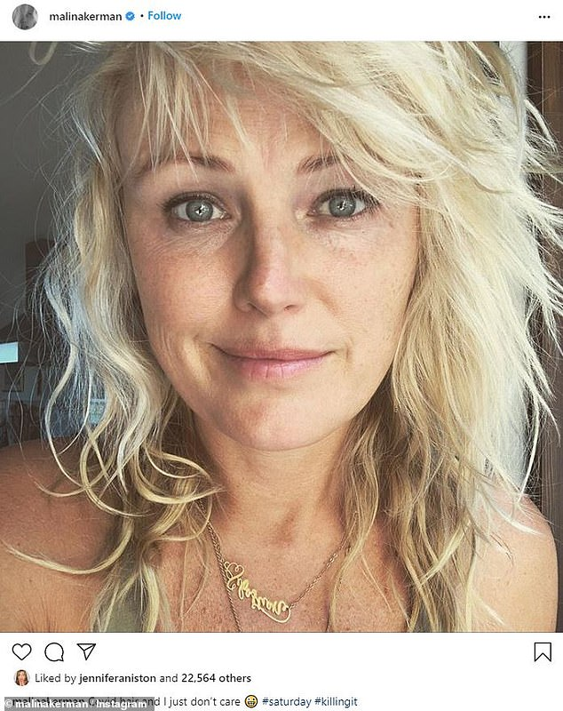 Radiant: She shared a recent selfie showing her 'Covid hair'