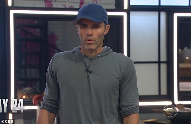 Tough decision:In a surprising move, the 35-year-old fitness trainer asked Head of Household Enzo Palumbo, 42, to put her up for eviction at the next elimination ceremony