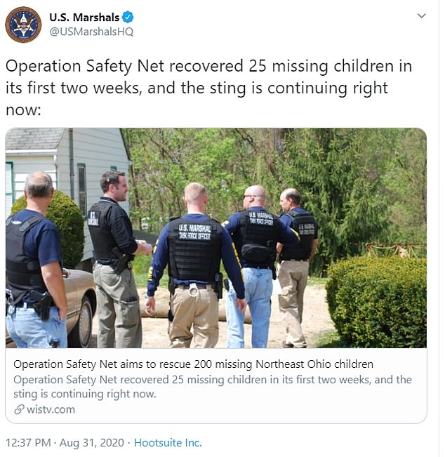 US Marshals are celebrating Operation Safety Net, which is continuing until October