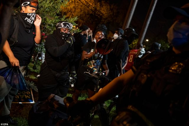 WASHINGTON DC: The incident happened at around 4pm and comes amid nationwide unrest over police violence