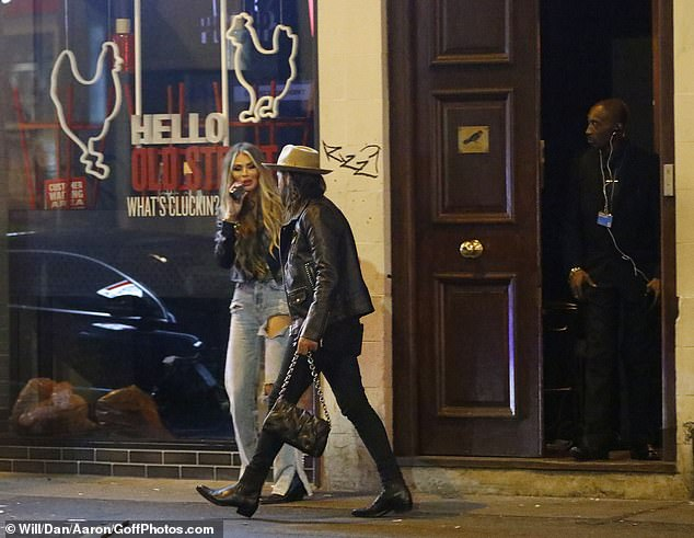 Late one: The duo reportedly left the bar in the early hours of the morning