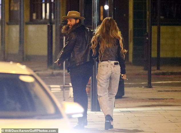 That's a wrap: The pals happily headed home from their night out, ahead of TOWIE's 10th anniversary special