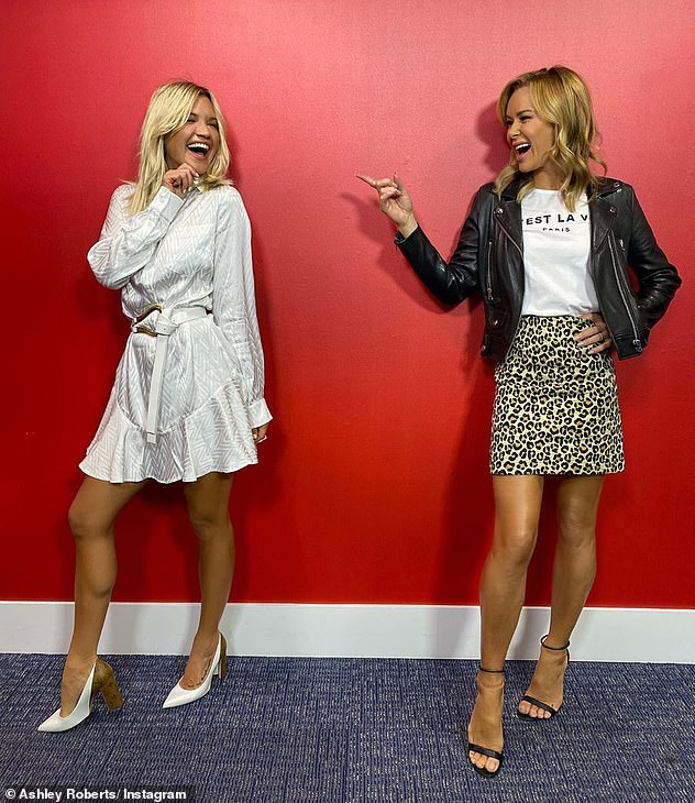 Reunited: The previous day, Ashley reunited with her pal and co-host Amanda Holden, 49, with the duo posing for a slew of snaps
