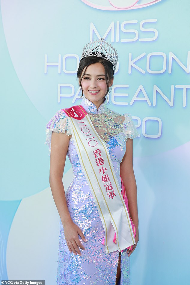 Lisa (pictured) achieved the title ahead of first runner-up Celina Harto and second runner-up Rosita Kwok Pak-yin
