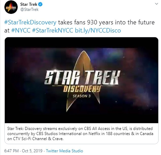 Future!Series three will be set 950 years into the future and the show tweeted a trailer in October 2019