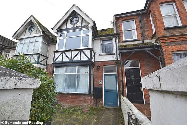 Also included in the promotional pictures for the property in Worthing was an outside shot which showed the shabby and unkempt exterior of the terraced house