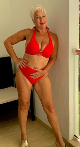 'I once replaced my alcohol addiction with food': Denise Welch was the picture of confidence as she shared a stunning bikini image to her Instagram on Thursday