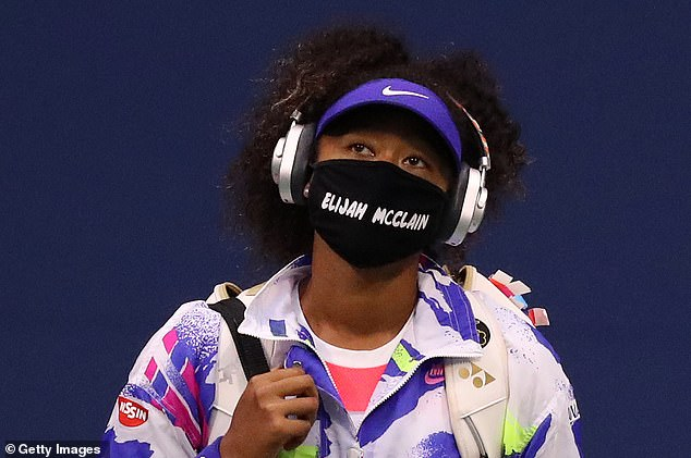Tennis player Naomi Osaka stepped onto court wearing mask in memory of Elijah McClain who was shot and killed by police in Colorado, pictured above